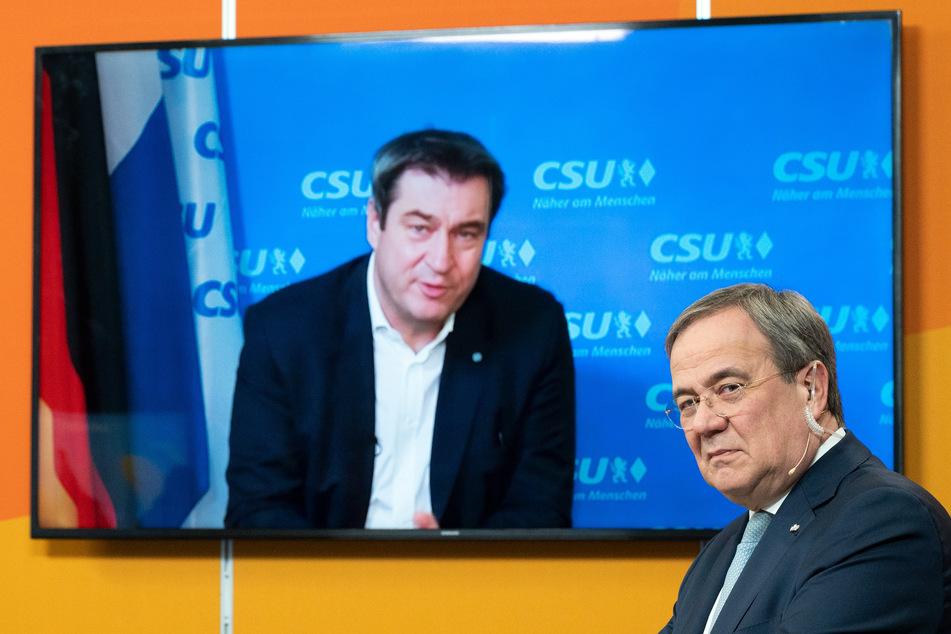 Bayerns Ministerpräsident Markus Söder (54, CSU) lobte als zugeschalteter Gastredner Armin Laschets (59, CDU) Regierungsarbeit in der CDU/FDP-Koalition in NRW und unterstrich auch seine Gemeinsamkeiten mit dem Ministerpräsidenten.