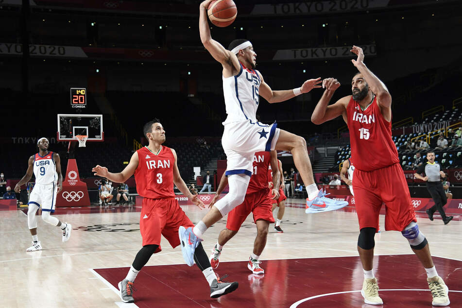 Olympics: Team USA make up for shock loss with huge win over Iran in basketball