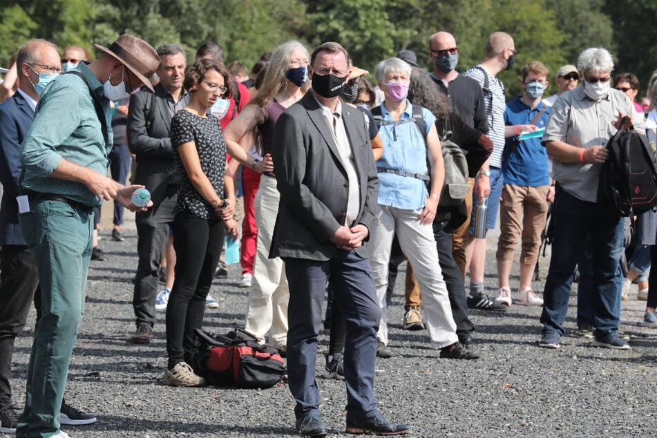 Unter den rund 200 Teilnehmern befand sich auch Thüringens Ministerpräsident Bodo Ramelow (64, Linke).