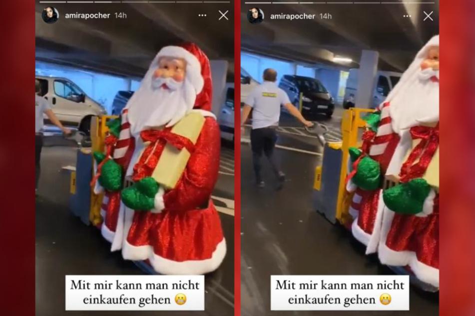 Amira Pocher (27) ging auf Einkaufstour - und shoppte einen gigantischen XL-Santa.