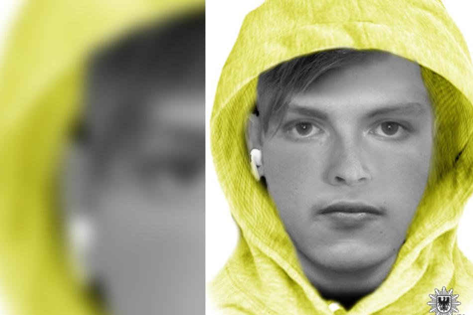 Die Polizei sucht mit diesem Phantombild nach einem mutmaßlichen Sexualstraftäter.