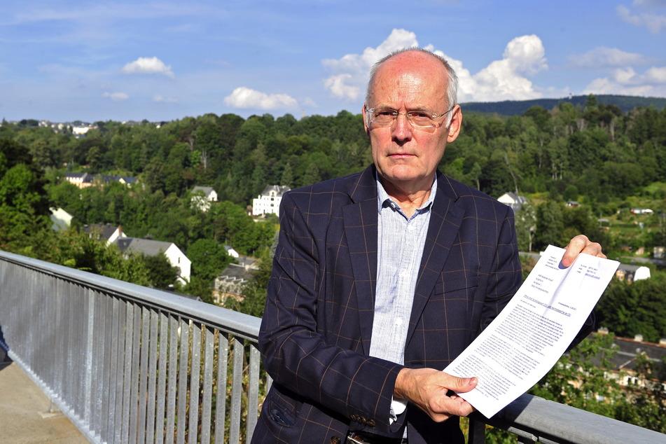 Annabergs Ex-Stadtsprecher Matthias Förster (64) verfasste einen offenen Brief mit Politik-Kritik.
