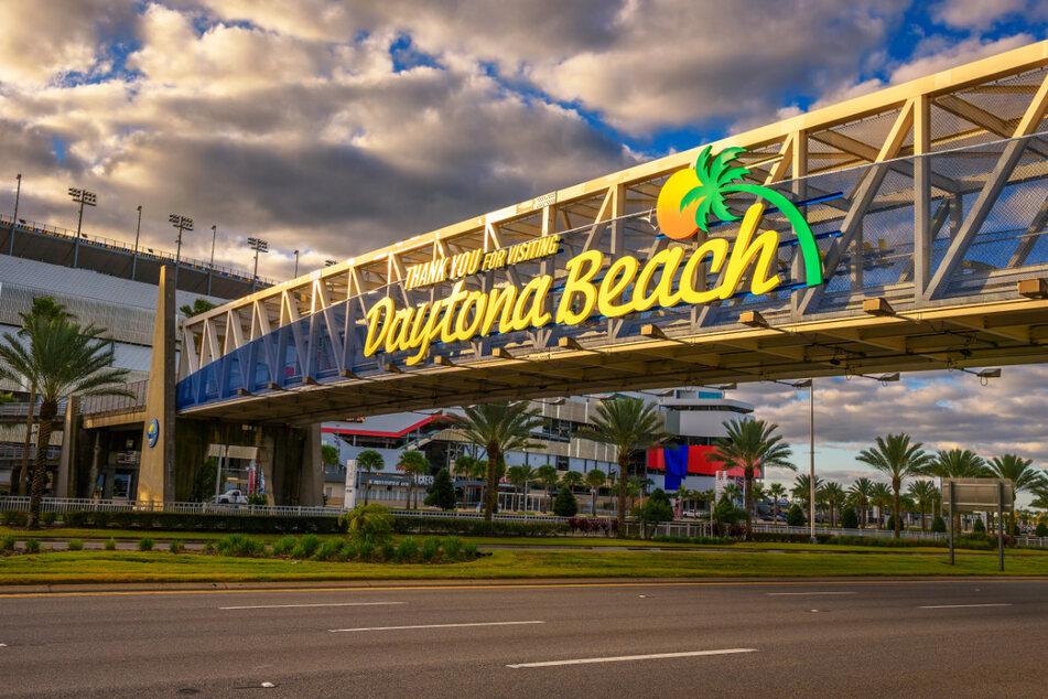 The illegal stunt occurred in the popular seaside resort of Daytona Beach (stock image).