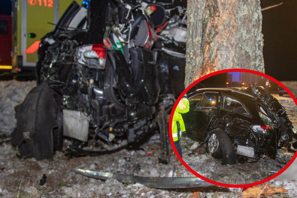 Autofahrer rast von der A4 gegen Bäume: Stamm bohrt sich ins Heck, 48-Jähriger schwer verletzt!