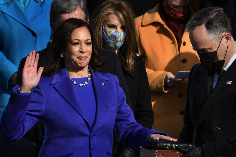 Kamala Harris' first official act as vice president was to swear in Democratic Senators Alex Padilla, Raphael Warnock, and Jon Ossoff.