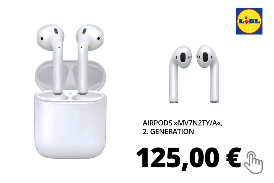 AirPods »MV7N2TY/A«, 2. Generation