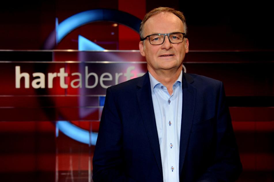 """Frank Plasberg (63), TV-Moderator, aufgenommen in der ARD-Talkshow """"Hart aber fair""""."""