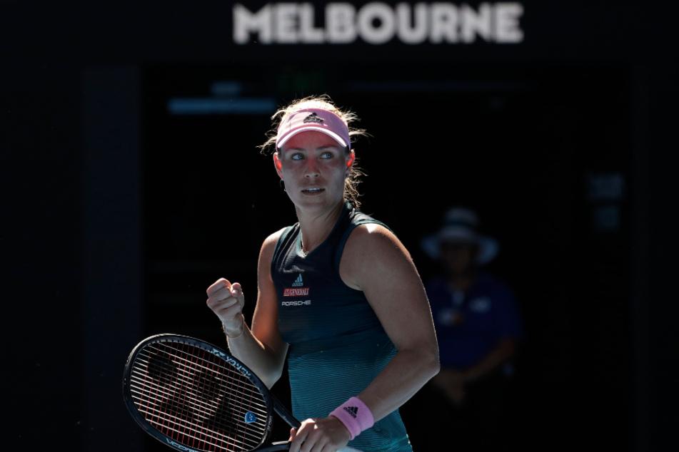 Nach dem gewonnen Erstrunden-Match bei den Australian Open 2019 jubelt Angelique Kerber (32).
