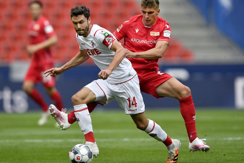 Jonas Hector (30, l.) vom 1. FC Köln bei einem früheren Spiel.