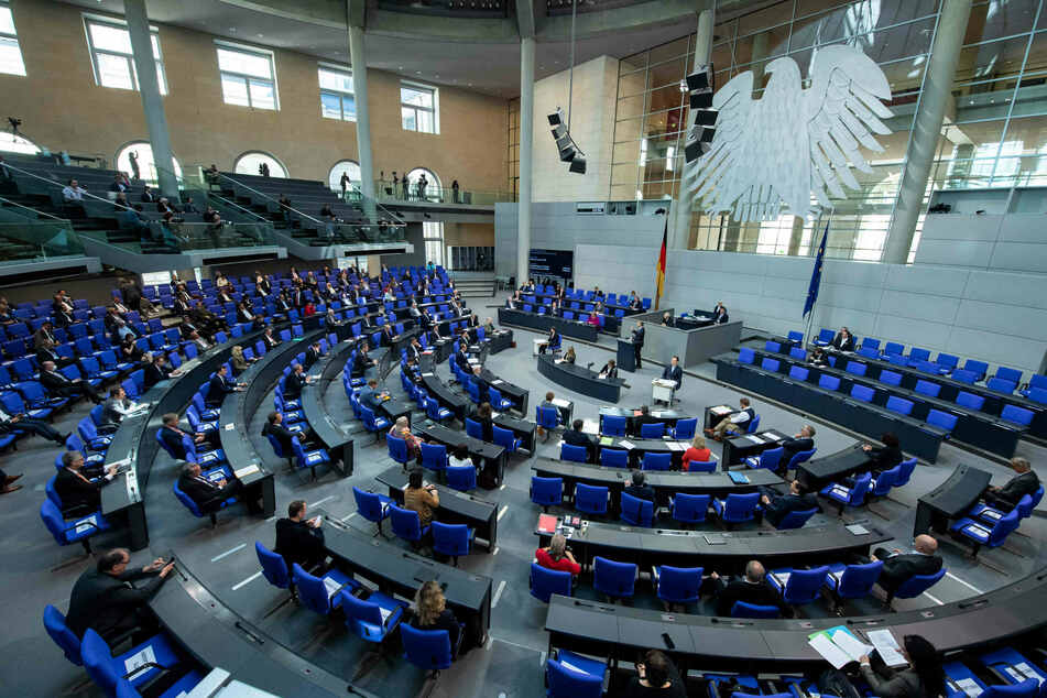 Der Deutsche Bundestag in Berlin.
