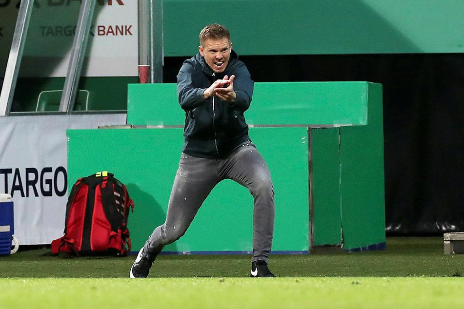 Dass RB Leipzig in die Verlängerung musste, schmeckte Trainer Julian Nagelsmann gar nicht.