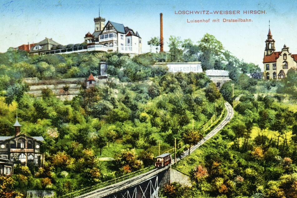 Die historische Postkarte zeigt den Luisenhof um 1910. Im Sommer spielte jeden Montag eine Militärkapelle.