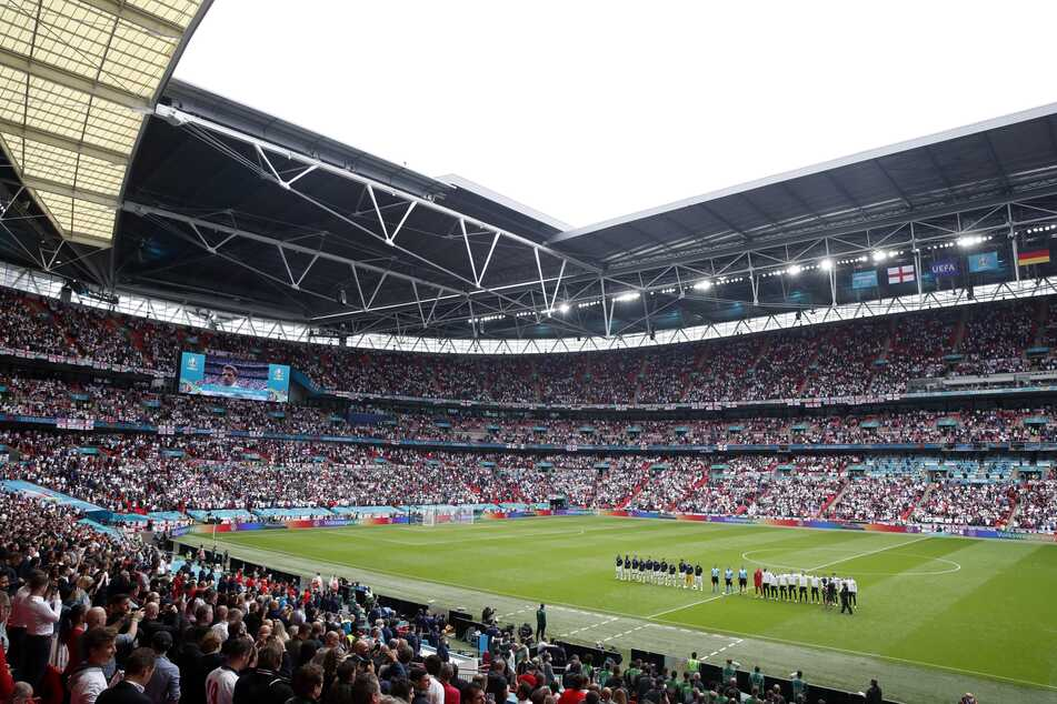 England gegen Deutschland beim EM-Achtelfinale in London.