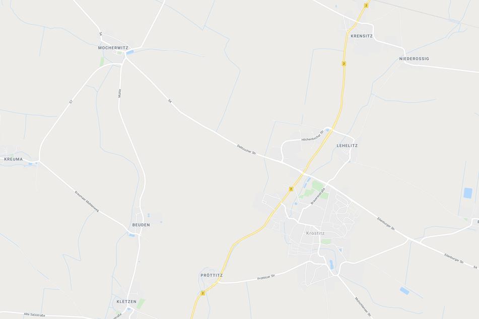 Der Unfall ereignete sich zwischen Mocherwitz und Beuden westlich von Krostitz.