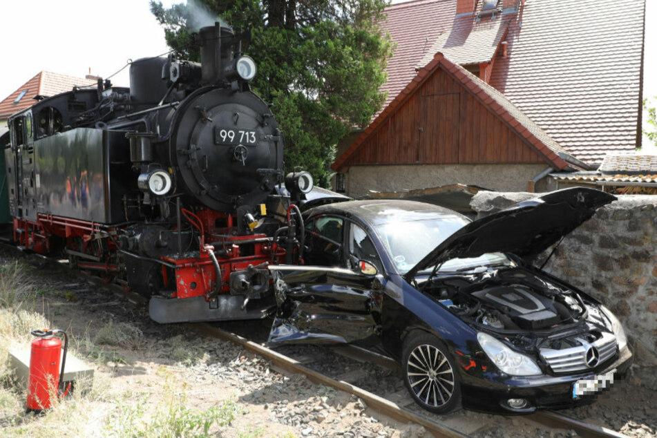 Der Lößnitzdackel kollidierte mit einem Fahrzeug.