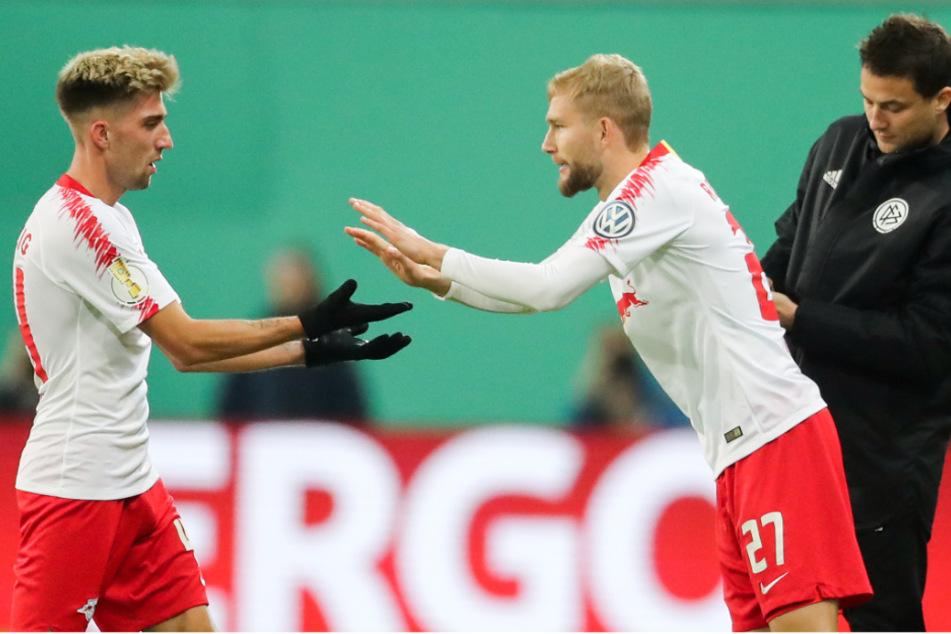 Konrad Laimer wird für Kevin Kampl in Leipzig eingewechselt.