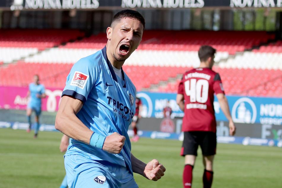 Robert Zulj glich für den VfL Bochum zwar zum 1:1 beim 1. FC Nürnberg aus, doch da man drei Punkte und ein Tor Vorsprung auf den Dritten SpVgg Greuther Fürth hat, ist man noch nicht sicher aufgestiegen.