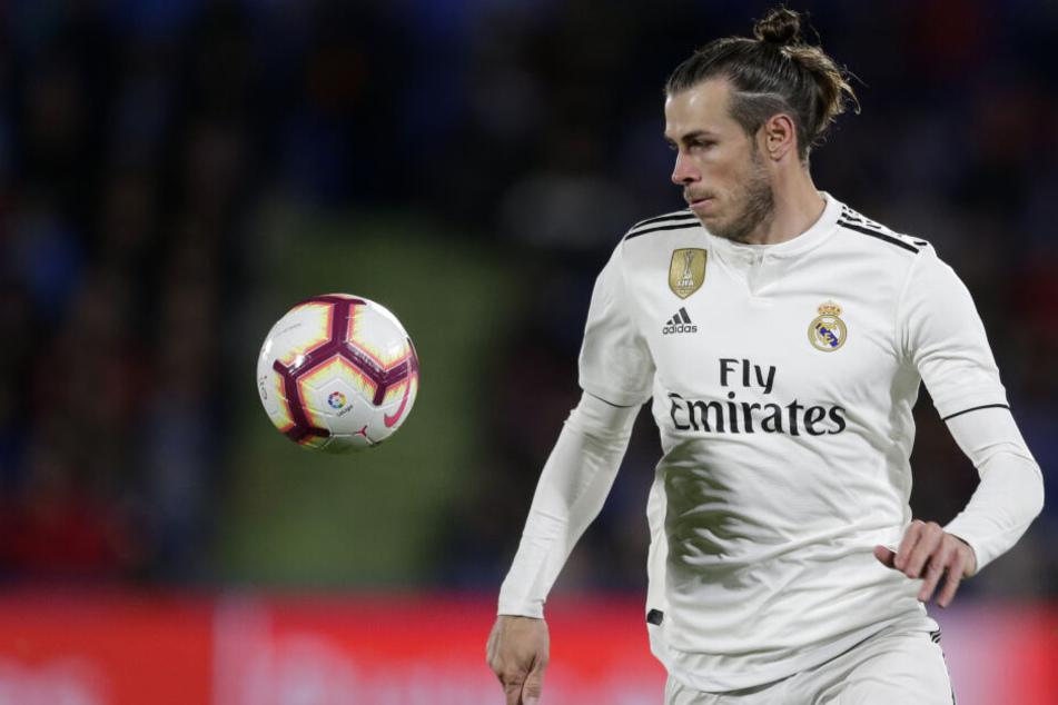 Der walisische Fußball-Nationalspieler Gareth Bale für Real Madrid in Aktion.