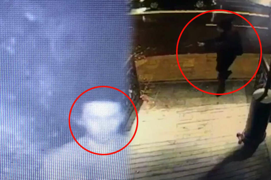 Das sind die bislang einzigen Bilder, die die Polizei vom Attentäter hat.