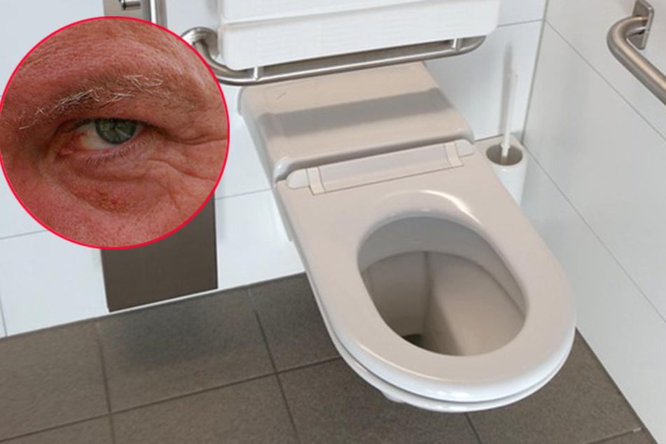 Auf der Toilette beobachtet zu werden, ist kein gutes Gefühl. Das musste am Freitagabend eine Herforderin erfahren.
