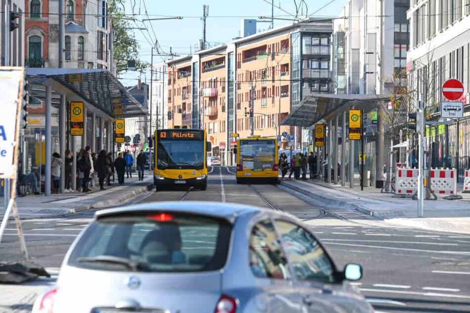 Die Kesselsdorfer Straße in Dresden. (Symbolbild)
