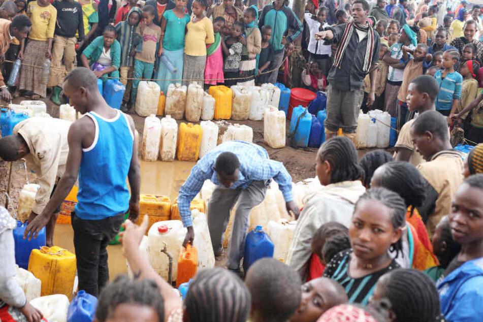 In Äthiopien leben viele Menschen, die zur Flicht aus anderen Ländern gezwungen waren.