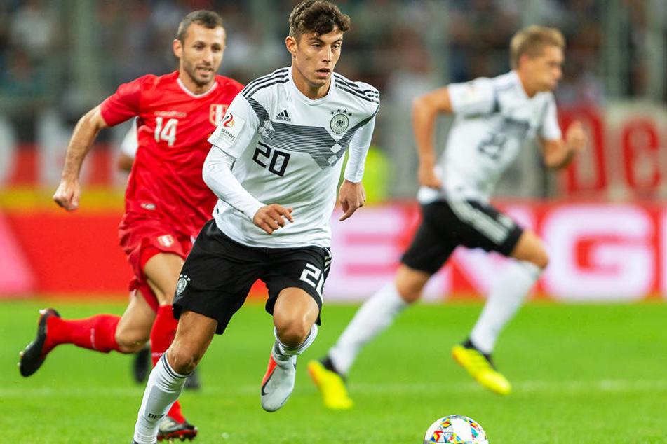 Gab beim 2:1-Testspielsieg der DFB-Auswahl gegen Peru sein Länderspieldebüt: Kai Havertz.