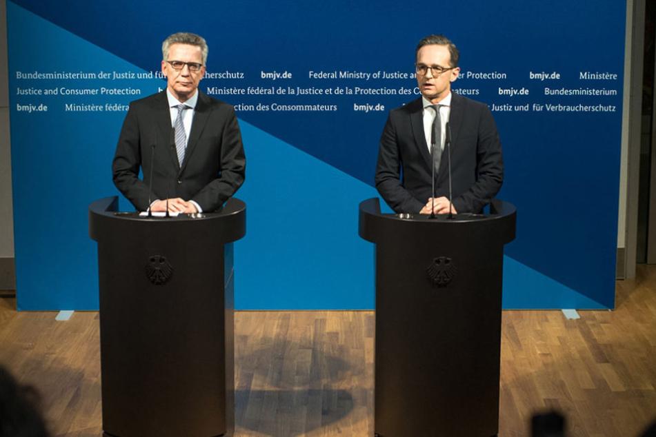 Thomas de Maizière (62, CDU) und Justizminister Heiko Maas (50, SPD) beschlossen am Dienstag härtere Maßnahmen gegen Gefährder.