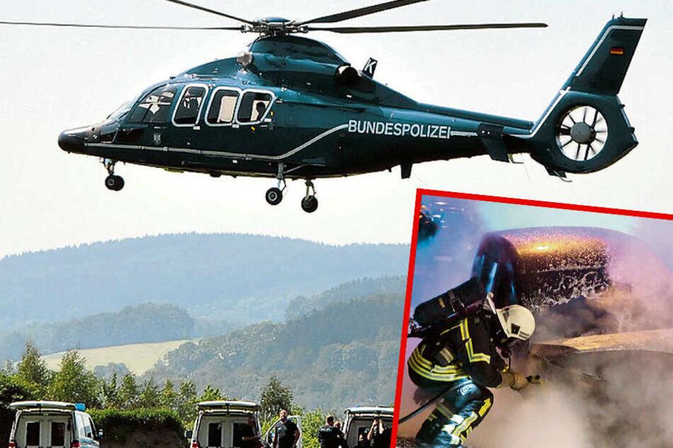 Nach Brandanschlägen: Polizei überwacht Bahnanlagen jetzt per Hubschrauber