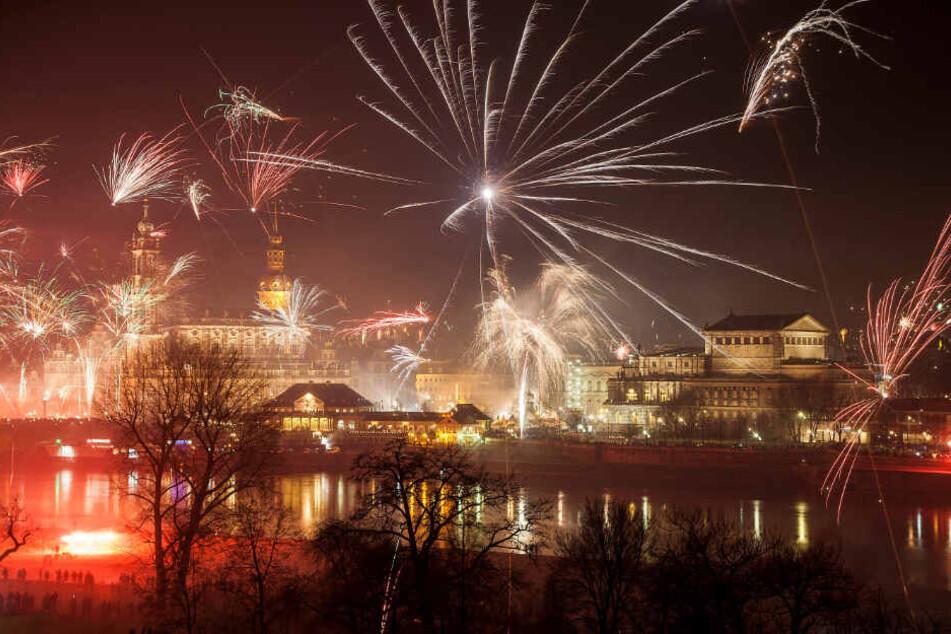 Verbote von Feuerwerken gibt es in Dresden nicht.