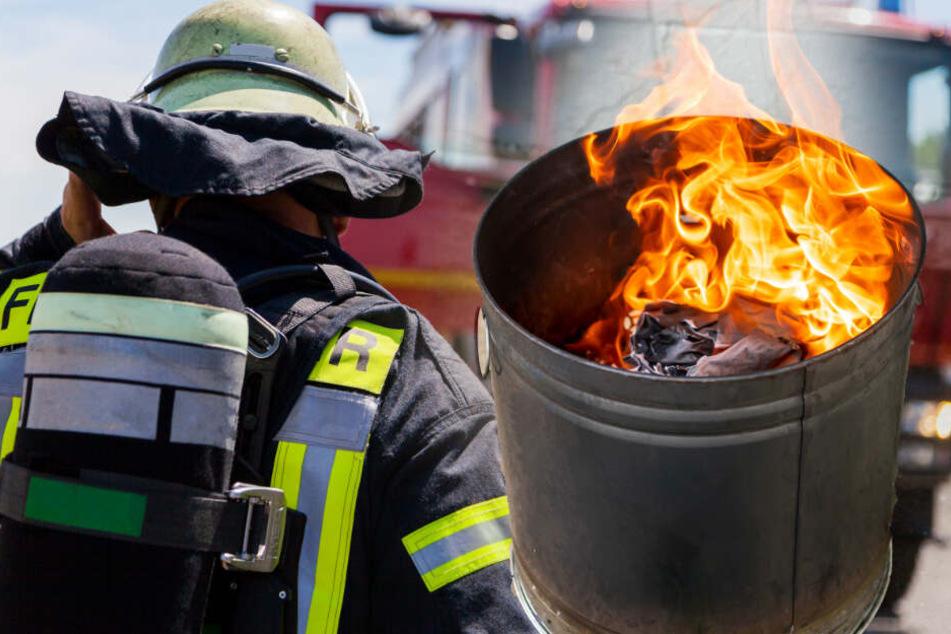Feuerwehrmann zündet immer wieder Mülltonnen an: Der Grund ist absurd