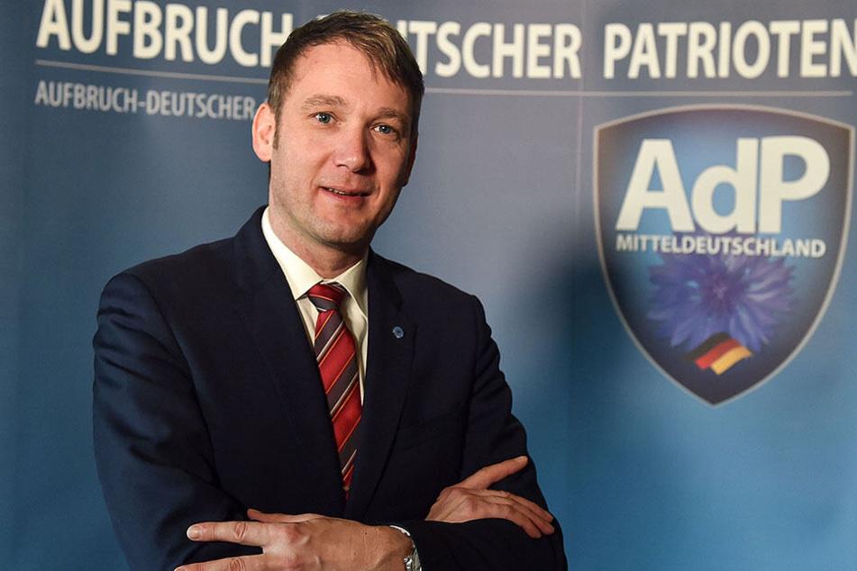 """Der frühere AfD-Politiker André Poggenburg (43) will mit seiner neuen Partei """"Aufbruch deutscher Patrioten"""" (AdP) in den sächsichen Landtag einziehen."""
