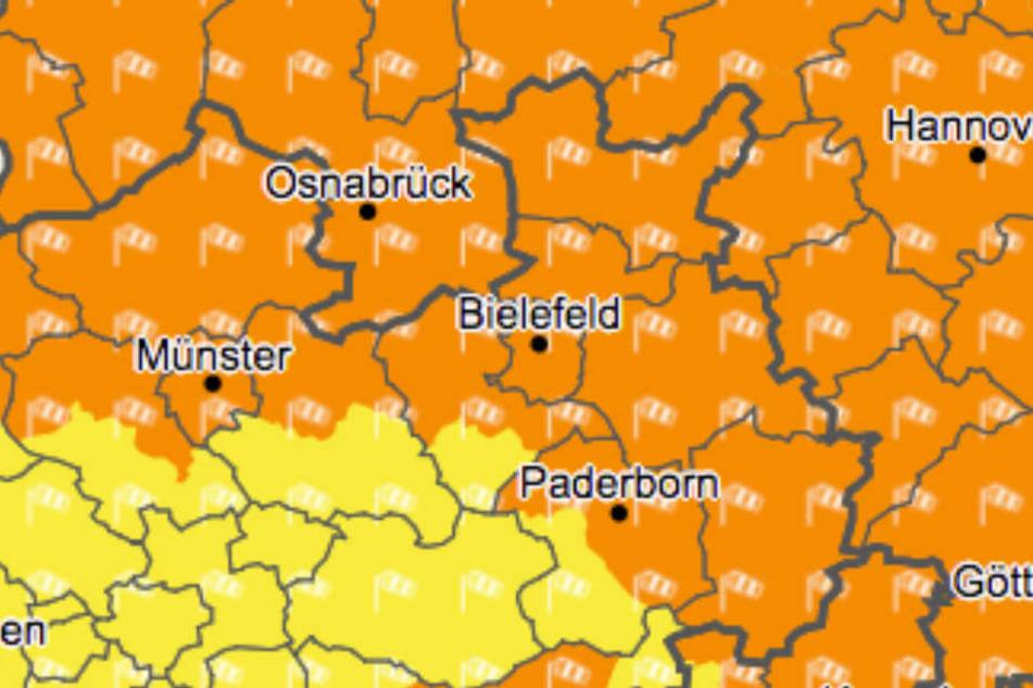 Am Montag wird es stürmisch in Ostwestfalen-Lippe.