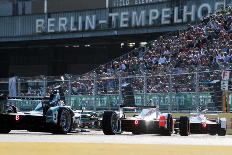Die Formel E gastiert zum zweiten Mal auf dem Tempelhofer Feld.
