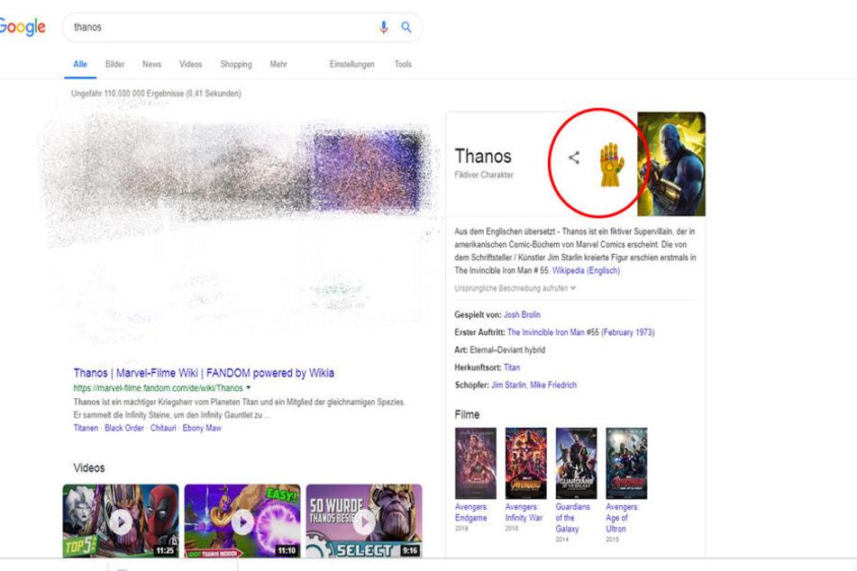 Google hat einen verrückten Special-Effect eingebaut.