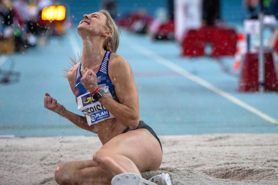 Silber für Dreispringerin Kristin Gierisch vom LAC Chemnitz
