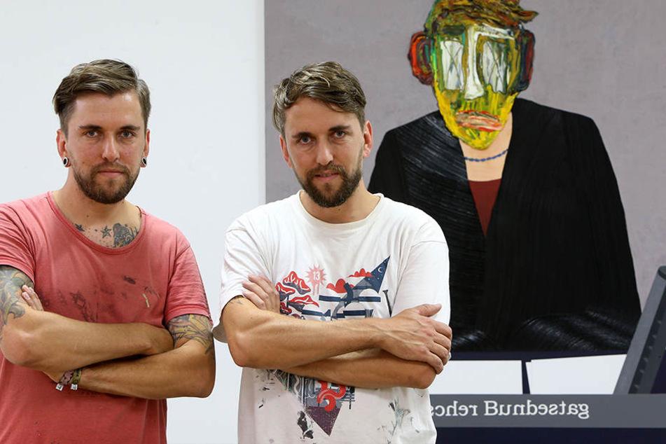 Eintönigkeit? Künstler-Zwillinge malen Arbeitszombies
