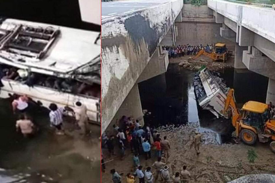 Twitter-Bilder zeigen die Unfallstelle in Agra.