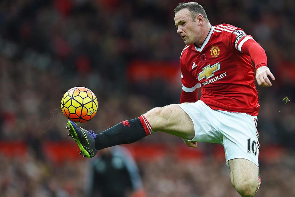 Traf in 498 Premier-League-Spielen 208 Mal und bereitete 111 Tore direkt vor: Wayne Rooney, hier im Trikot von Manchester United.