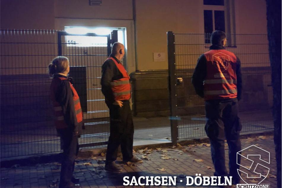 Die Bürgerwehr postet ihre Streifengänge öffentlich bei Facebook - diese Fotos veröffentlichte die Gruppe aus Döbeln im Internet.