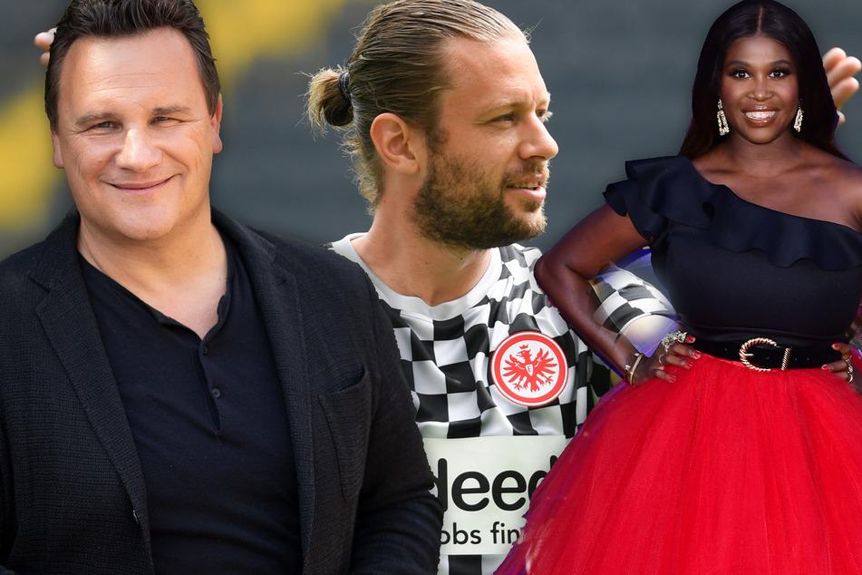 """Die Fotomontage zeigt Designer Guido Maria Kretschmer (55/l.), Ex-Eintracht-Kicker Marco Russ (35) und """"Let's-Dance""""-Jurorin Motsi Mabuse (39)."""