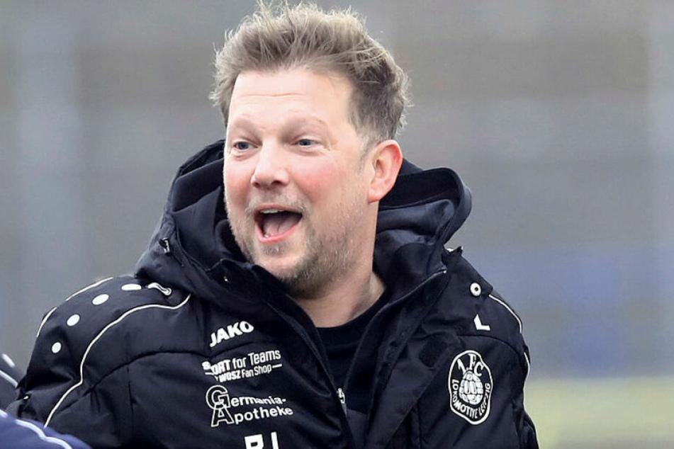 Nach dem 4:2 gegen den Chemnitzer FC durfte sich Lok Leipzigs Teamchef Björn Joppe über den nächsten Dreier freuen. (Archivbild)