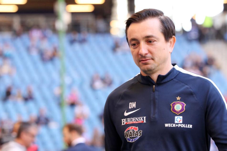 Aue-Trainer Daniel Meyer hofft, dass Dennis Kempe gegen Bochum wieder spielen kann.