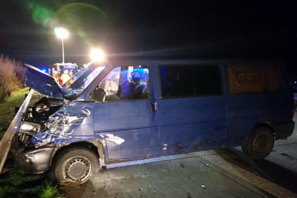 Auch dieser Transporter soll an dem Unfall beteiligt gewesen sein.