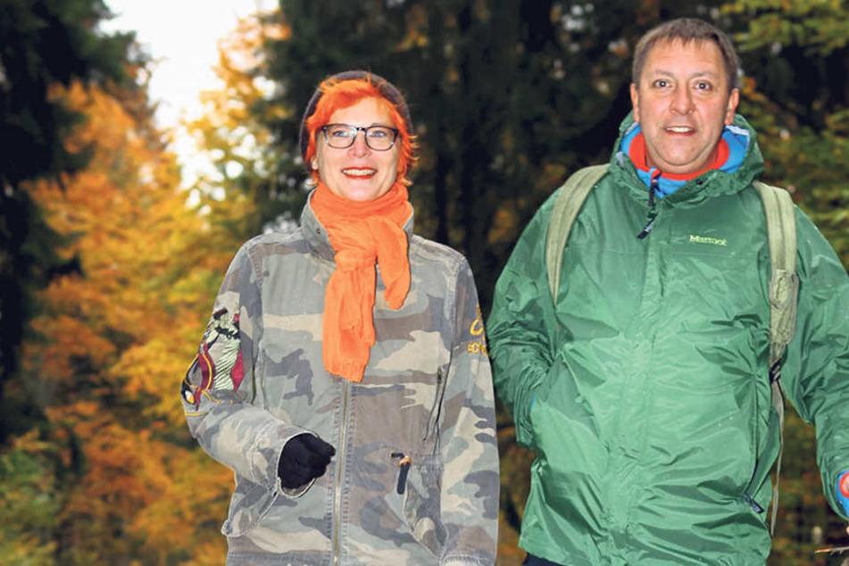 Morgenpost-Reporterin Katrin Koch begleitete Thomas Böttcher 2013 bei seiner Wanderung durch Sachsen - zumindest ein Stückchen ...