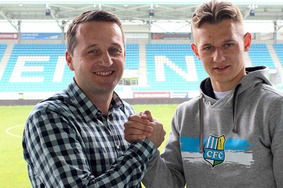 Sportvorstand Thomas Sobotzik und Erik Tallig.