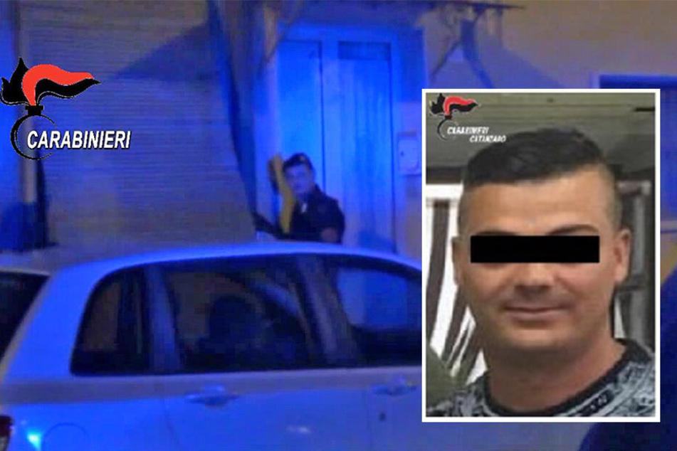 Führendes Mafia-Mitglied springt auf der Flucht halbnackt vom Balkon