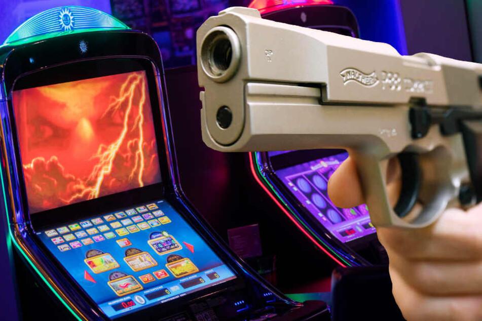 Einer der beiden Spielhallen-Räuber drohte mit einer Schusswaffe (Symbolbild).