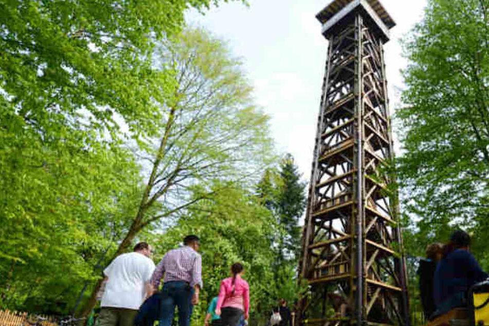 Rund 140.000 Euro sammelten die Spender bislang für den Wiederaufbau des Frankfurter Goetheturms (Archivbild).