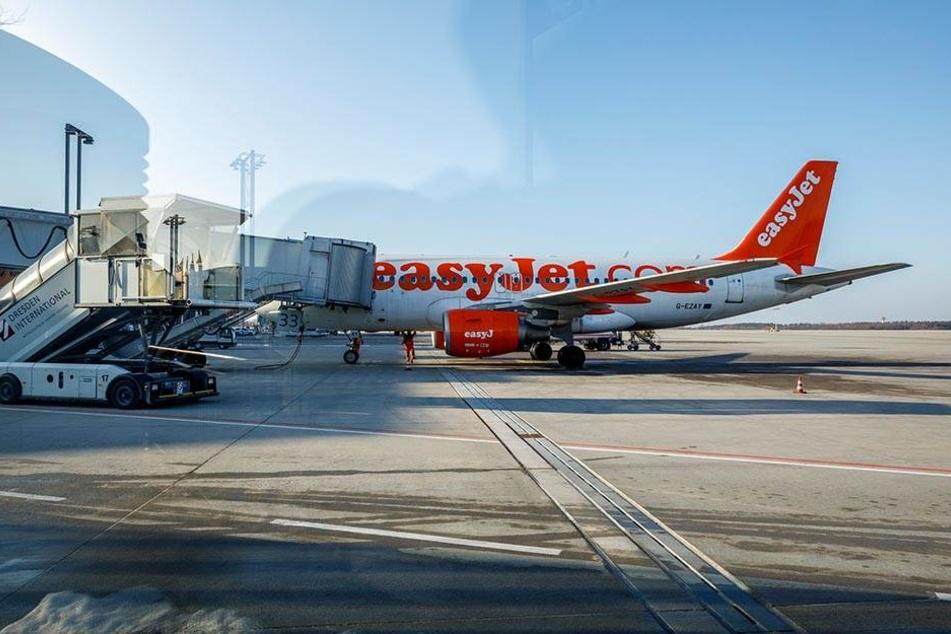 Umgeleitet wegen des Streiks: Am Dresdner Flughafen landeten am Montag 25  Maschinen aus halb Europa. Dienstag werden 17 weitere Flieger erwartet.